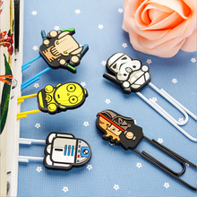 6pcs/lot Kawaii Star wars series Bookmarks Cartoon paper clip holder Office supplies School  stationery(China (Mainland))