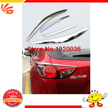 Car styling rear tail Light lamp detector frame stick styling ABS Chrome cover trim For MAZDA CX-5 Rear tail light frame cover