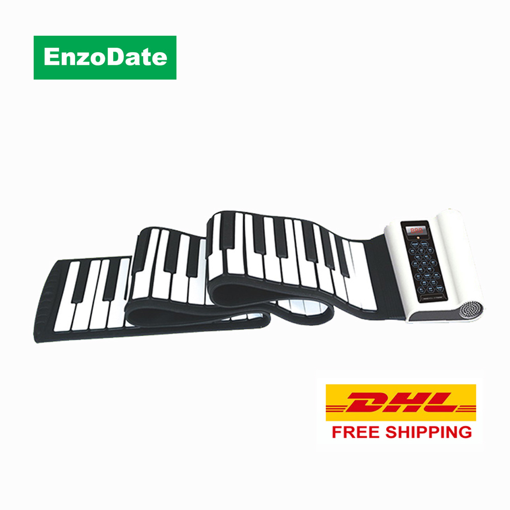 DHL Free Shipping 88 Keys Roll Up Piano with Sustain Pedal, Flexible Silicone Midi Hand Roll Electronic Keyboard(China (Mainland))