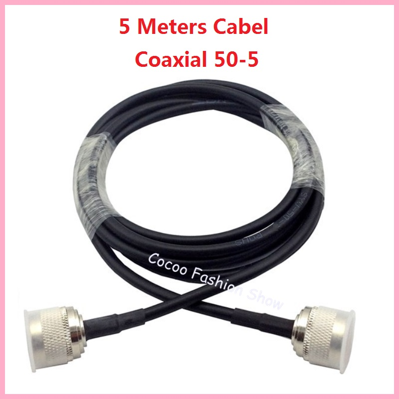 High quality 5 Meters 50 ohms 50-5 Coaxial Cable for Connecting to Mobile Signal Repeater to Splitter or Antenna(China (Mainland))