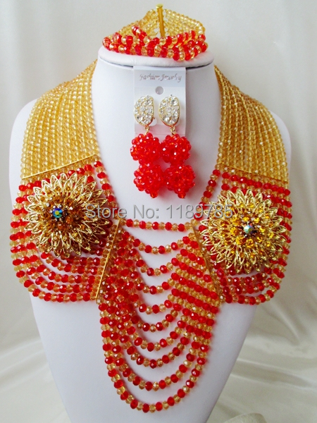Preferred Special offer Nigerian Crystal Beads Women Fashion Beads Jewelry Set Wedding Bridal Jewelry Set Free Shipping A-11554<br><br>Aliexpress
