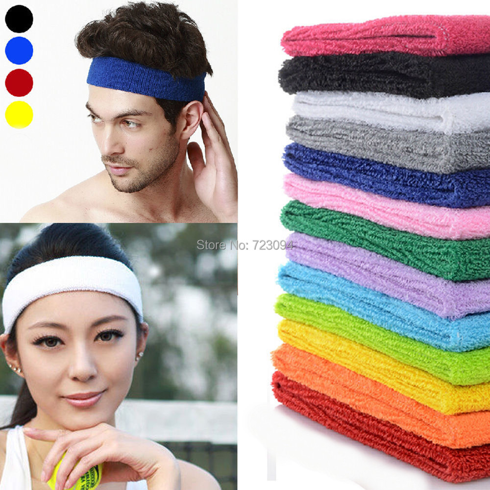 Hot Selling Ladies Mens Sports Headband Hairband Stretchy Sweatbands Yoga Gym Hair Head Band JE417