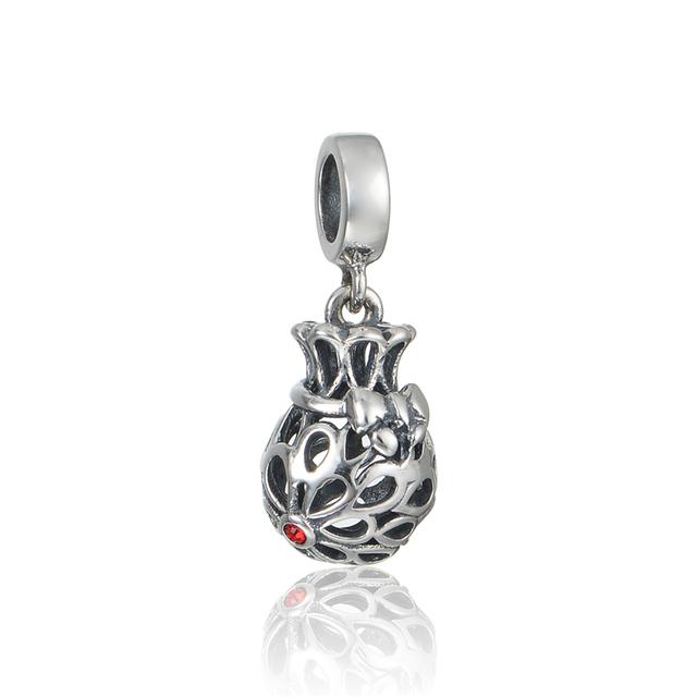 Стерлингового серебра - серебристо-ювелирные бусины подходящий европейский браслет серебро 925 поделок мода ювелирных изделий открытые сердца мотаться бусины