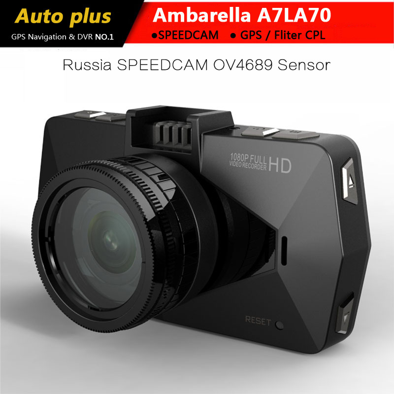 Best Ambarella A7 LA70 Car DVR Camera Recorder GPS 1080P/60FPS 170 Degree Night Vision WDR With polarizing Filter Russia A7810(China (Mainland))