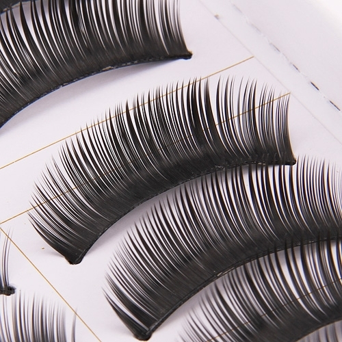Trendy 10 Pairs Black False Fake Eyelashes Thick Long Curl Eye Lash Party Club Studio Makeup Style 1(China (Mainland))