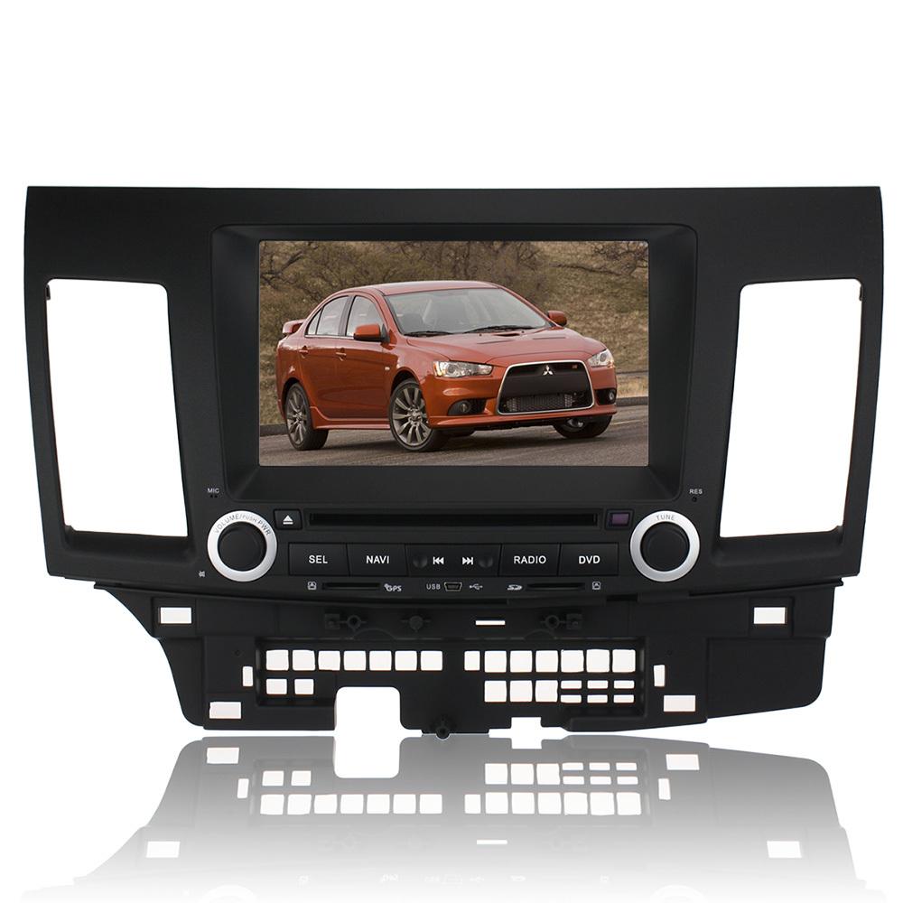 Hot Sell 8'' DVD GPS Navigation Navi Radio for MITSUBISHI LANCER Car Player CAN-BUS iPod BT(China (Mainland))