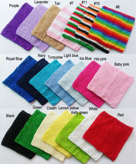 9x10 inches Large Crochet tube top tutu top wide crochet headbands Mixed color 50pcs per lot  for tutu supplies