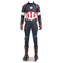 2016 New Marvel The Avengers: Age of Ultron Captain America Cosplay Costume Steve Rogers Outfits Adult Superhero Costume