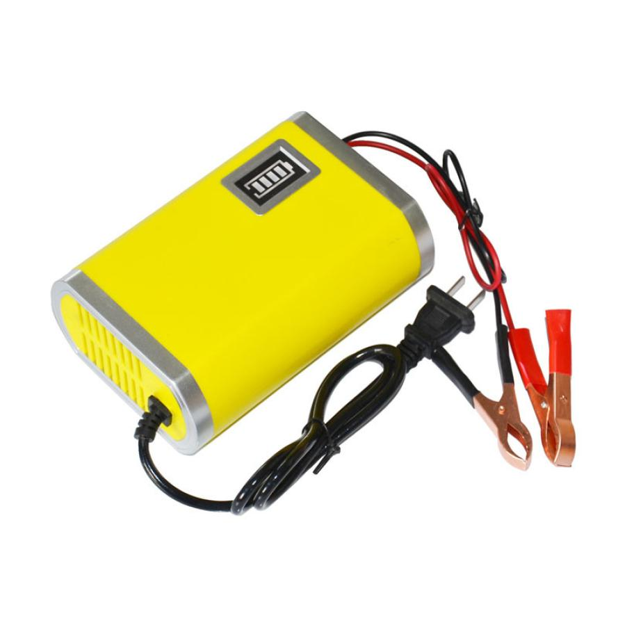 Brend New High Motorcycle Car Auto 12V 6A Battery Charger Intelligent Charging Machine Auto Accessories @027