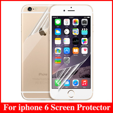 2pcs Front + 2pcs Back Transparent Clear HD Glossy Anti Glare Mobile Phone Screen Protector For iphone 6 4.7″ Protective Film