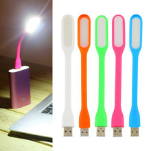 White LED USB Lamp for Laptop Flexible USB Light for Xiaomi Notebook Computer PC Warm Mini LED Lamp USB Gadgets(China (Mainland))