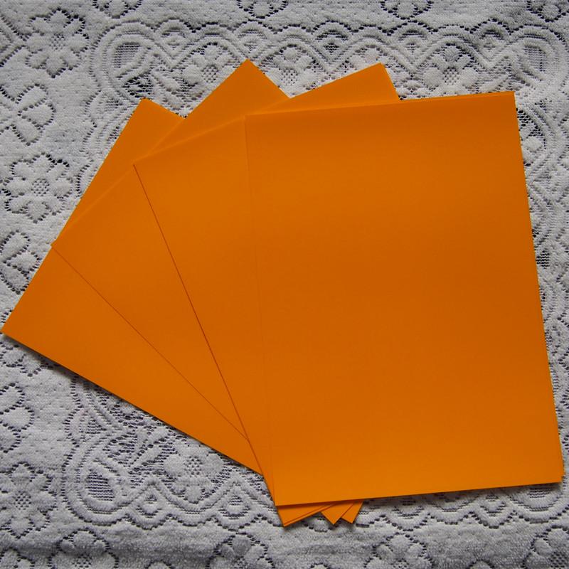 (A4*4pcs) Medium Yellow Color PU Vinyl Heat Transfer For Clothing Vinyl Cuttable PU Film Plotter Vinyl Textil For Heat Press 606(China (Mainland))