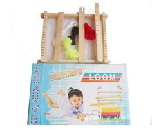Free delivery, DIY weave educational toys, children's sweater knitting machine, hand looms, girl making handmade wool toys(China (Mainland))