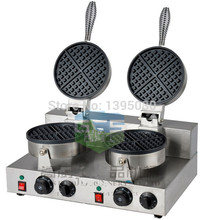 Free Shipping By DHL 1PC FY 2 Electric Double Head Waffle Maker Mould Plaid Cake Furnace