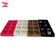 Buy Retail Portable Jewelry Box Velvet Jewelry Display Organizer Tray Bead Storage Container Tray Earring Storage Tray 11*22CM for $5.41 in AliExpress store