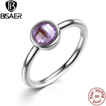 Buy 925 Sterling Silver Rings Poetic Droplet Purple CZ Finger Ring Compatible VRC Women Fashion Wedding Jewelry HJ7186 for $7.18 in AliExpress store