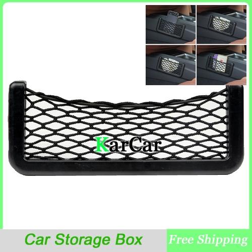 Large Car Mesh Bag Car Cell Phone Pocket Bag, Storage Compartment Free Shipping(China (Mainland))