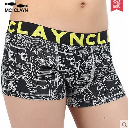 MC CLAYN Brand boys cotton boxer shorts panties kids Children's underwear teenager independent packing(China (Mainland))