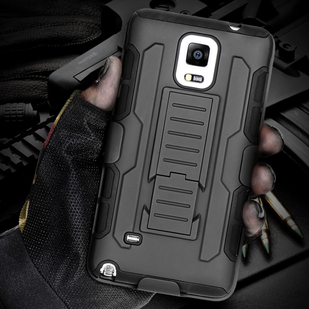 Black Armor Phone Cases Samsung Galaxy S6 S7 Edge Plus Case S5 S4 Note 5 4 3 Coque Dual Layer Hybrid Kickstand Holder Shell - RCD Group Co., Ltd store