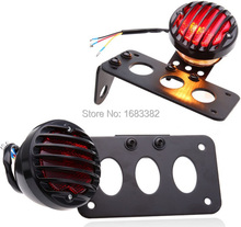 New License Plate Bracket Brake Tail Light Lamp For Harley Choppers Sportster Bobber(China (Mainland))