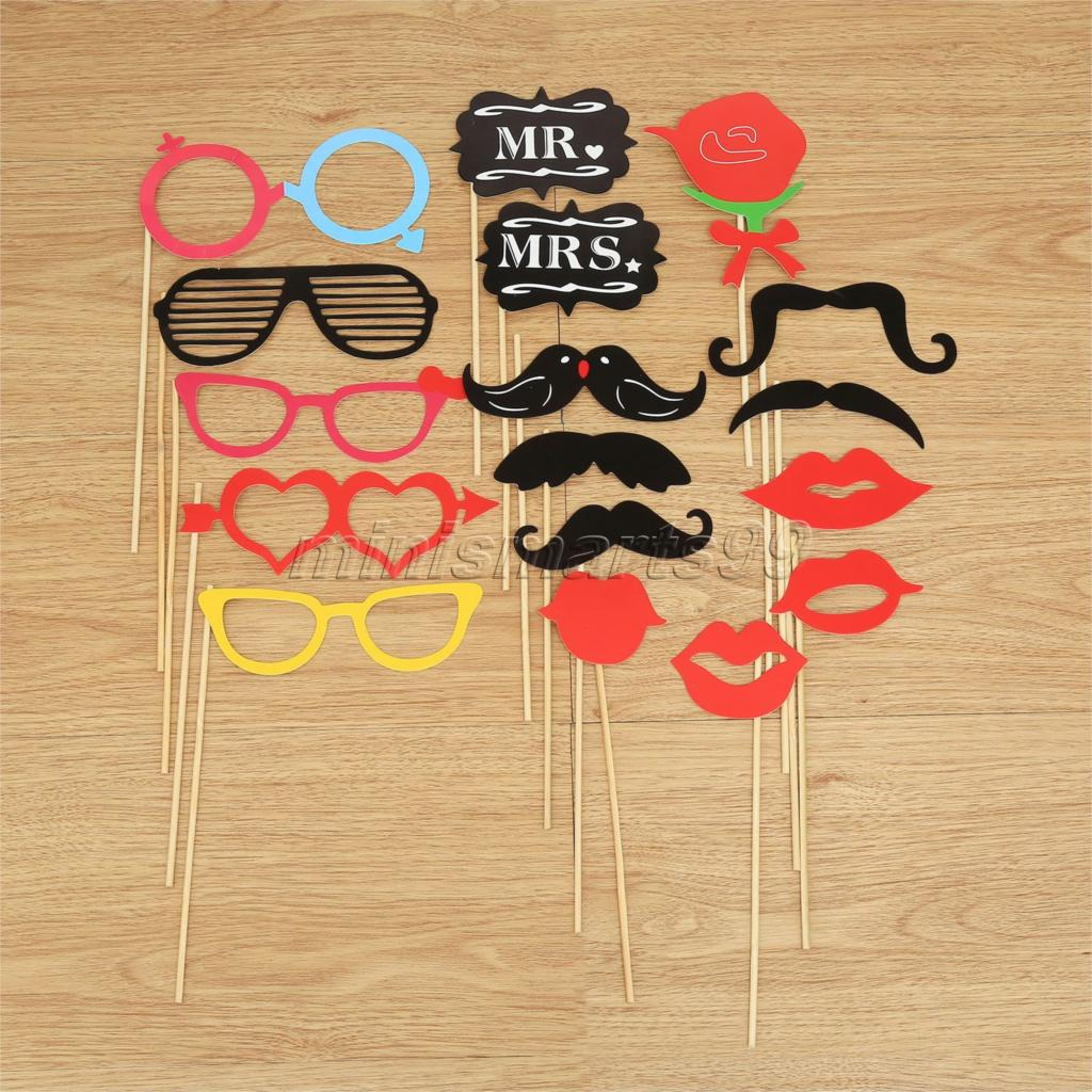 18pcs/set Colorful Photobooth Photo Booth Props Masks On A Stick Wedding Decoration Party Favors Holiday Event Party Supplies(China (Mainland))
