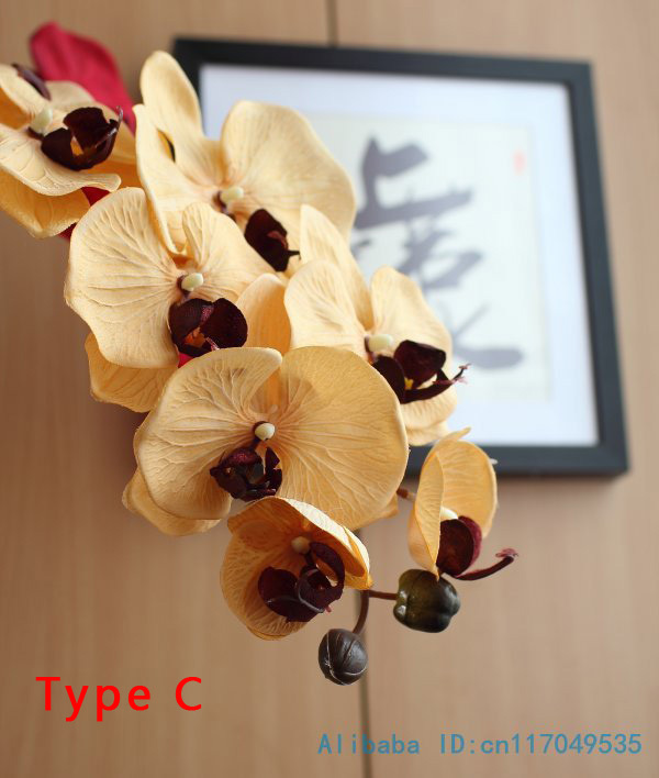 1 Stem Silk Flower Artificial Moth Orchid Butterfly Orchid for new House Home Wedding Festival Decoration