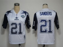 Stitiched,DALLAS COWBOYS,Troy Aikman,Irvin,Emitt Smith,Deion Sanders,Tony Dorsett,Roger Staubach,throwback for mens(China (Mainland))