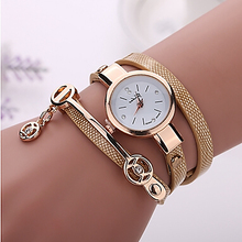 free shipping2016 New Fashion Summer Style Leather Casual Bracelet Watch Wristwatch Women Dress Watches Relogios Femininos Watch