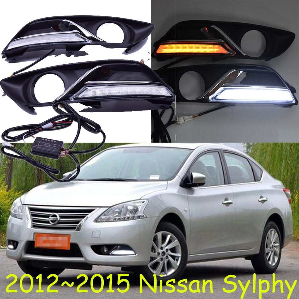 2012~2015 Sylphy Daytime Light, LED,Sylphy fog light,2pcs+wire harness,Sylphy headlight,8W 12V,6500K,black,Free Ship! - NoBonn Autoparts lighting Co;Ltd store