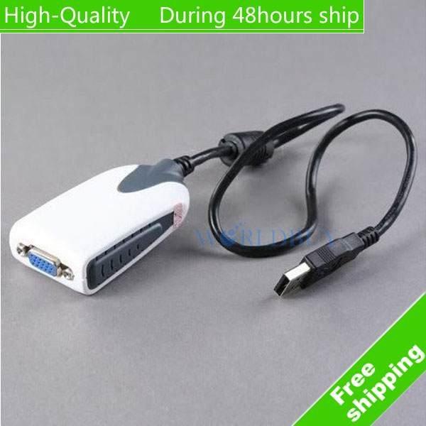 High quality USB 2.0 To VGA Multi-Display Adapter Converter,USB to VGA Adapter Cable Free Shipping(China (Mainland))