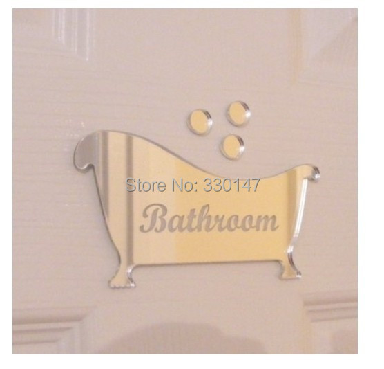 2015 Adesivo De Parede 2 Style Set Bathroom Men And Women Sign Acrylic 3d Mirror Wall
