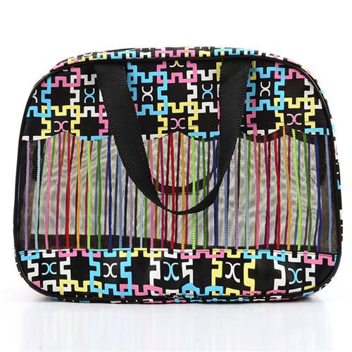 cosmetic bag beautiful fashion beach bag PVC mesh