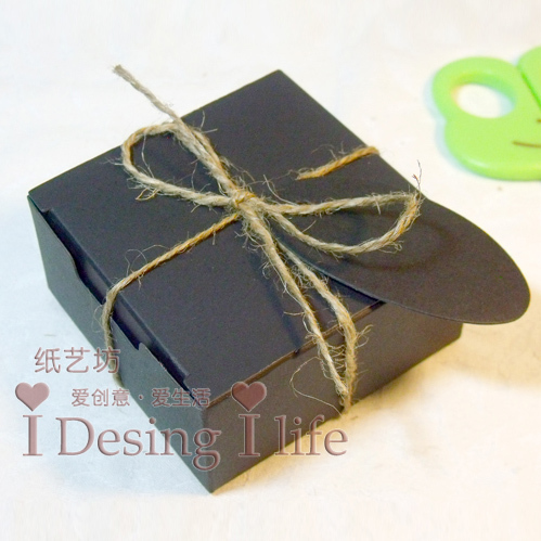 Free shipping High Quality Kraft Paper 50PCS/LOT Gift Wrapping Paper Soap Box with Cards & Rope Cardboard Paper SOB-004(China (Mainland))