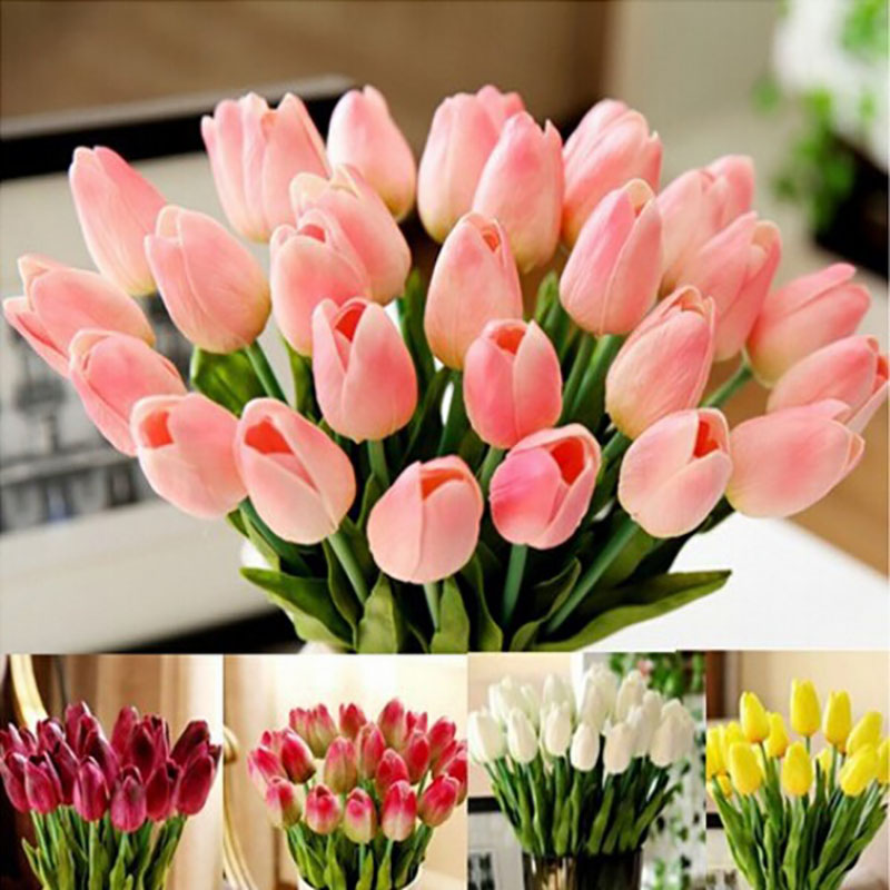 Artificial Tulip Wedding Bouquets : Pcs lot tulip artificial flower real touch pu