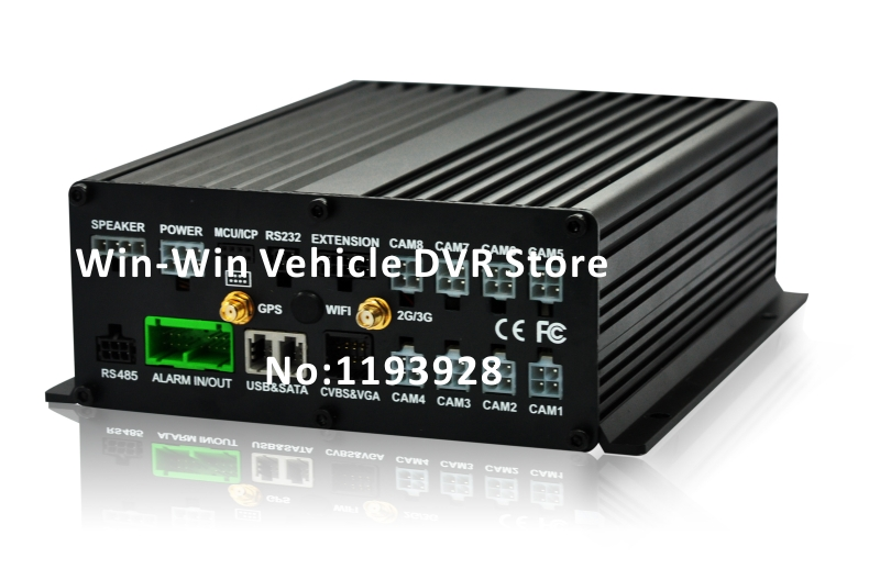8 channel car camera mobile DVR video recorder with GPS WIFI function(China (Mainland))