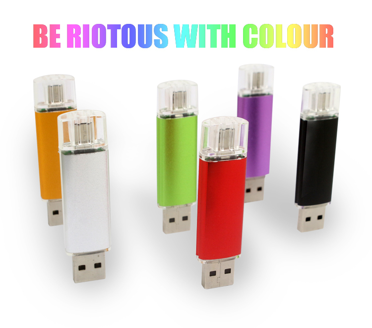 New Smart Phone Tablet PC USB Flash Drive 64gb pen drive OTG external storage micro 64g usb drive memory stick usb 2.0 pendriver(China (Mainland))
