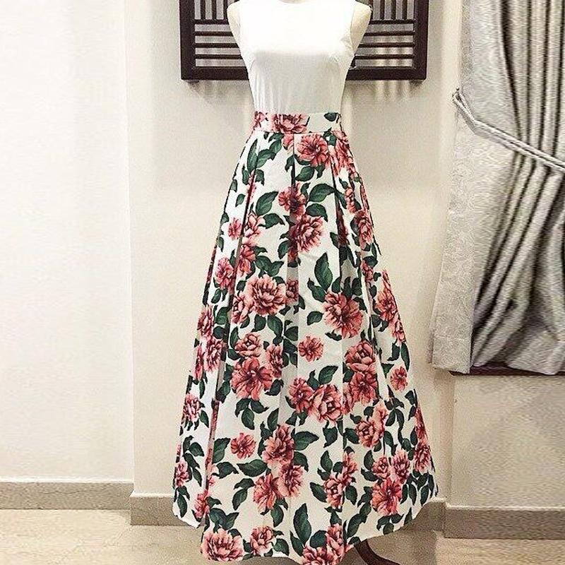 Long Skirt Floral