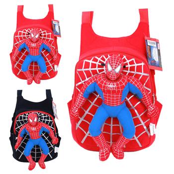 Забавный новый 3D детский рюкзак человек-паук для мальчиков, детская школьная сумка ...