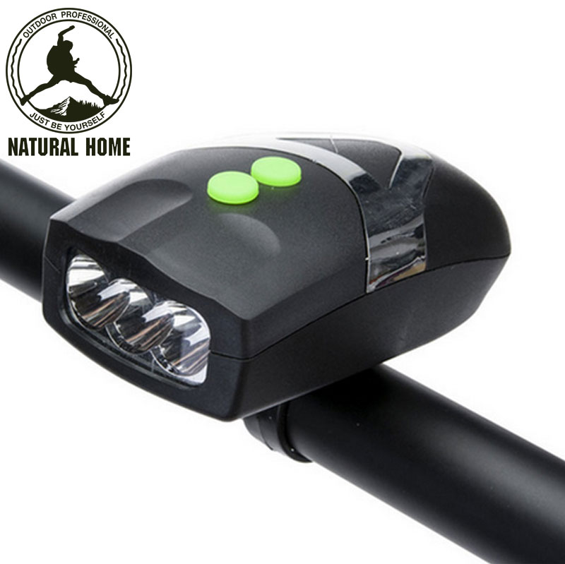 [NaturalHome] Brand Bright LED Bike Lights Bicicleta Bicycle Light Front Head Cycling Lamp+Electronic Bell Horn Hooter Siren(China (Mainland))
