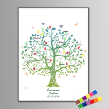 Buy Canvas Fingerprint Signature Guest Book Life Tree Wedding Party Birthday Party Baby Shower Baptism Decoration Souvenir for $7.76 in AliExpress store