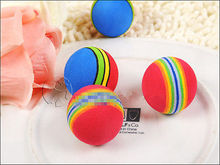 Baby Dog Toys Pet Toys Puppy Dog And Cat Toys Chew Q Rainbow Ball Toys For Cat Pet Products