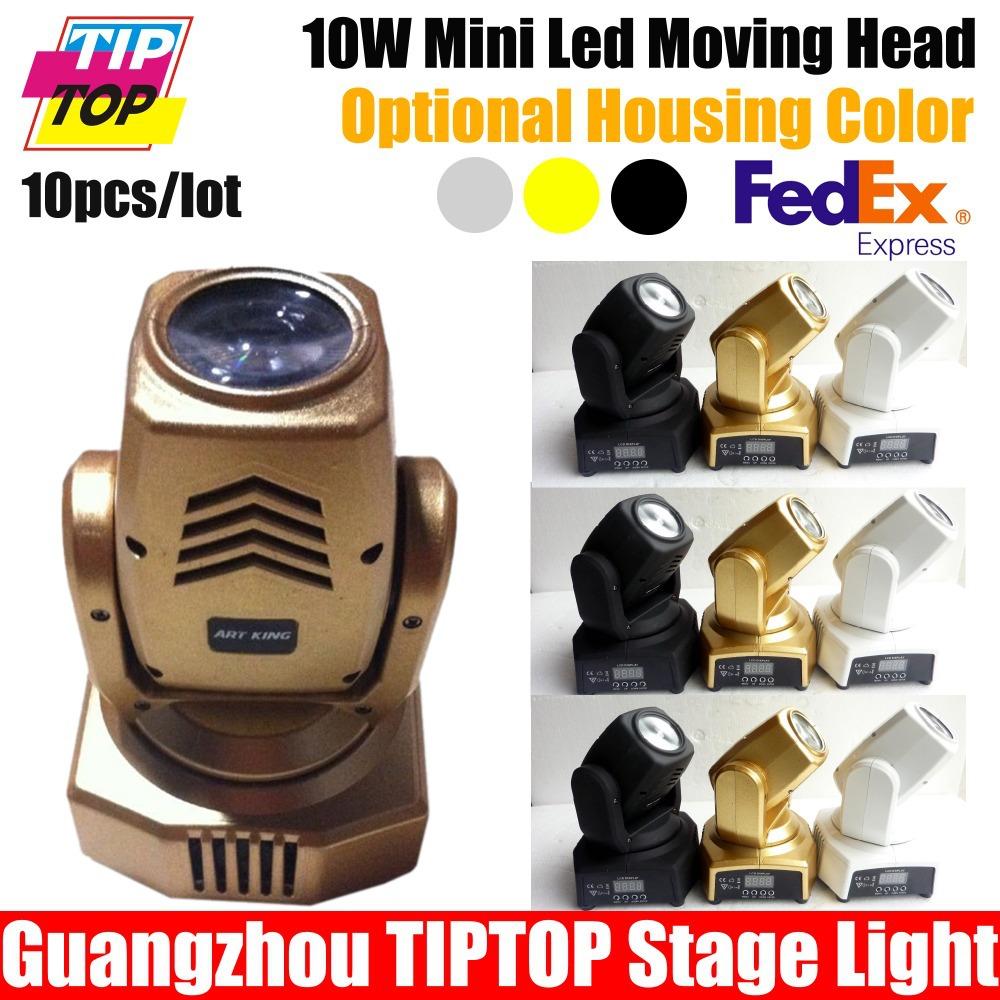 Здесь можно купить  Wholesales 10Pcs/Lot Cree 10W Led Moving Head Beam Free Shipping RGBW Led Moving Head 10W Hi-Quality 3 Cover Housing To Choose   Свет и освещение