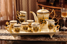 European style ceramic coffee set tea set fashion bone china coffee cup and saucer suit teapot cups tea tray set Gift