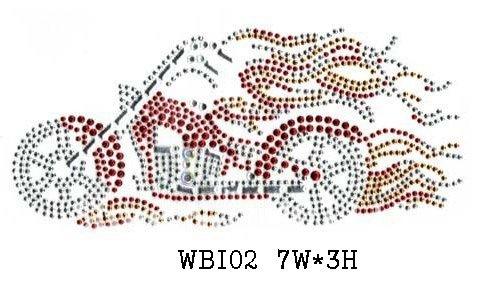 WBI02 Biker & motorcycle rhinestone transfer(China (Mainland))