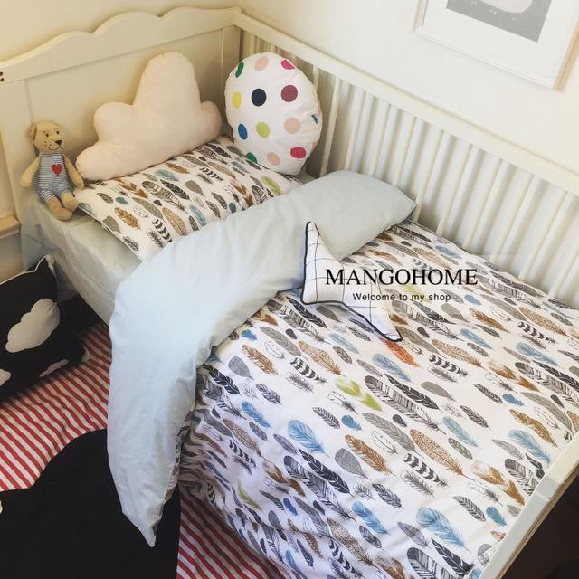 Детская кроватка постельных принадлежностей 100% хлопка постельных принадлежностей ...