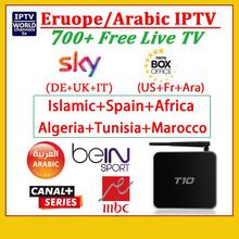 NEW Best Arabic European IPTV Box 700 Plus LIVE Free TV Channels Sport /Sky (DE UK IT)/Box Office/Canal+ Android 4.4 tv box