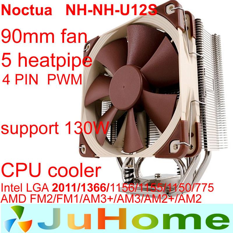 12cm fan,5 heatpipe,tower side-blown,LGA2011/1156 /1155/1366 ,AMD AM2+, AM3+, FM1,FM2,CPU fan,CPU cooler,noctua NH-U12S(China (Mainland))