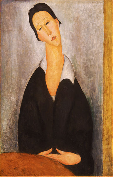 Canvas Art Prints Stretched Framed Giclee World Famous Artist Oil Painting Amedeo Modigliani <font><b>Italian</b></font> Portrait Of Polish Woman