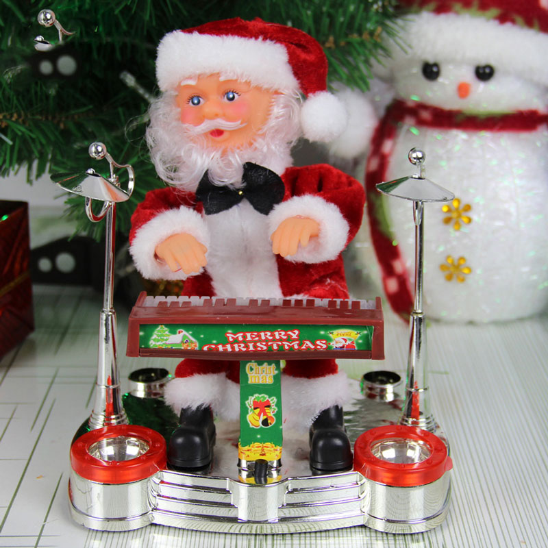 Electric christmas electric toy christmas gift music Christmas Santa Claus free shipping(China (Mainland))