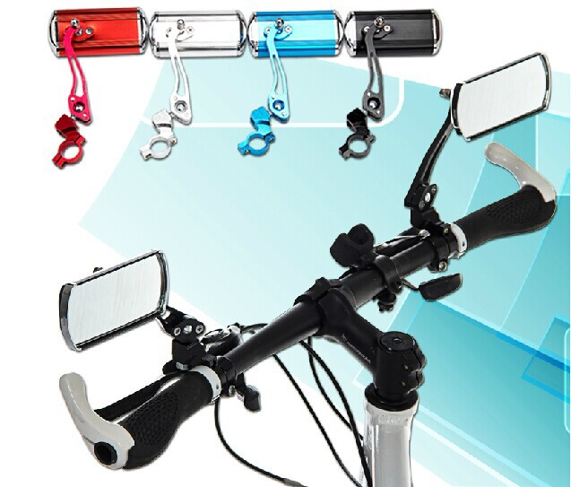 2pcs lot Bike bicycle rear view mirror classic cycling rectangle mirror reflector handlebar end rearview mirror